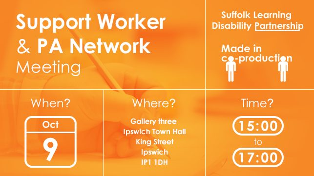 Support Work & PA Network Meeting