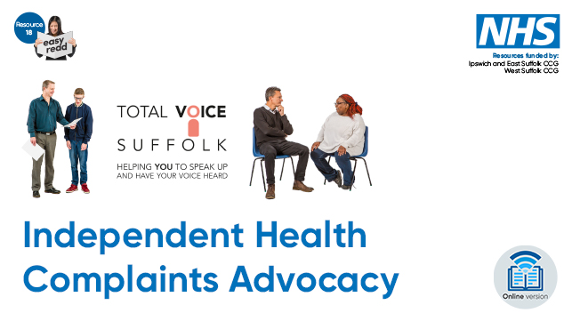 Independent health complaints advocacy 2