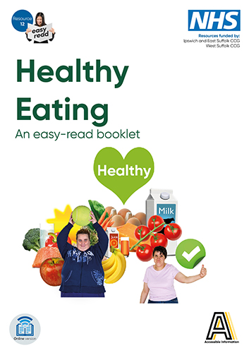picture of the front cover of the healthy eating booklet
