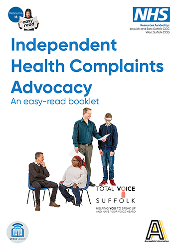 picture of front cover of the health complaints advocacy booklet