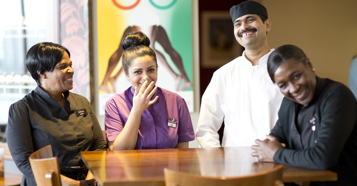 team members at premier inn
