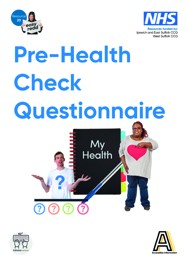 20. Pre health check questionnaire (March 2019 update).indd