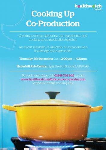 image of the cooking up co-production poster