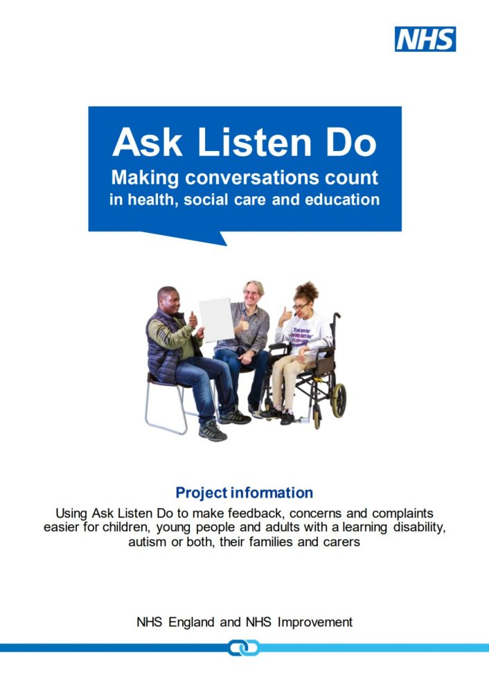 Home page of publication: Ask, Listen, Do - Making Conversations Count