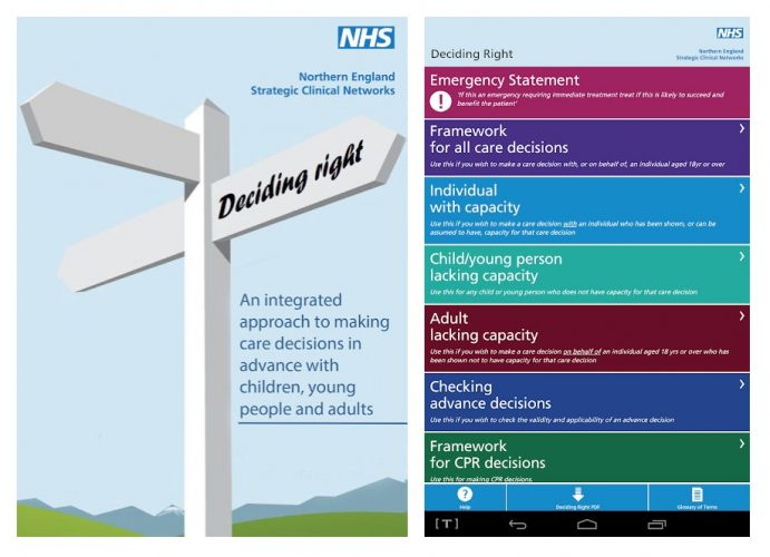 NHS An integrated approach to making care decisions in advance with children, young people and adults.