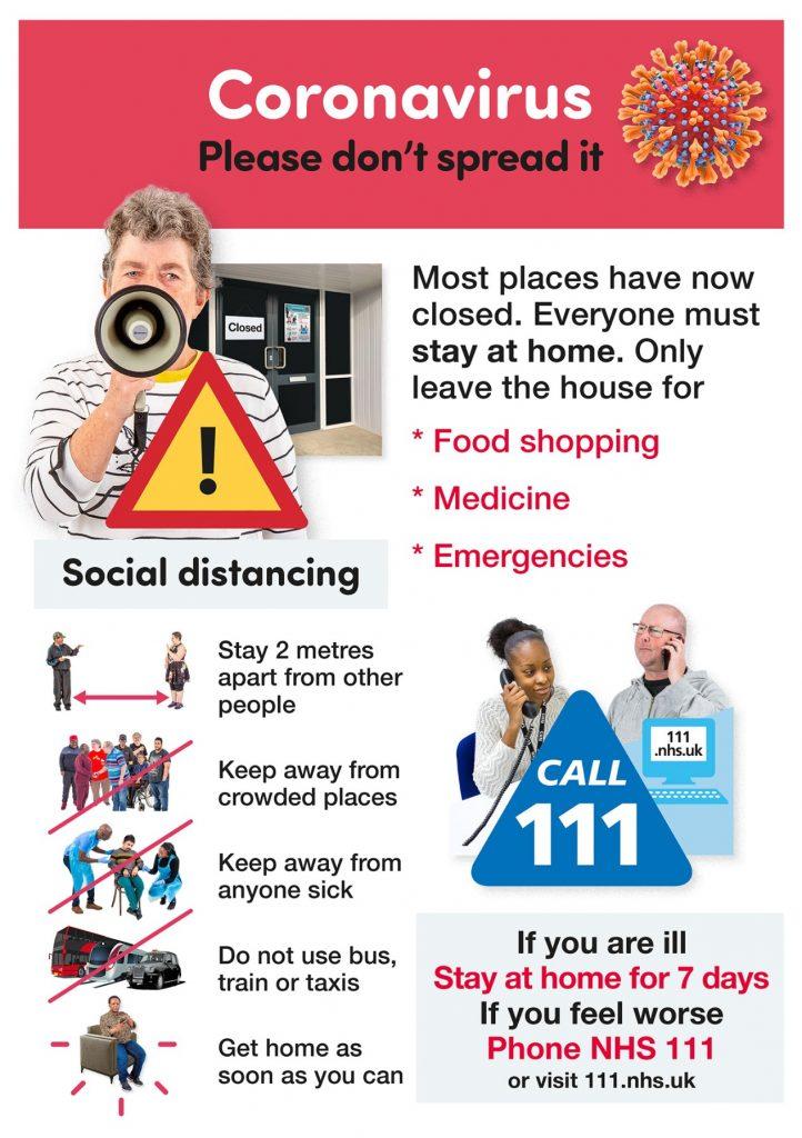 Photosymbols poster - COVID - please don't spread it