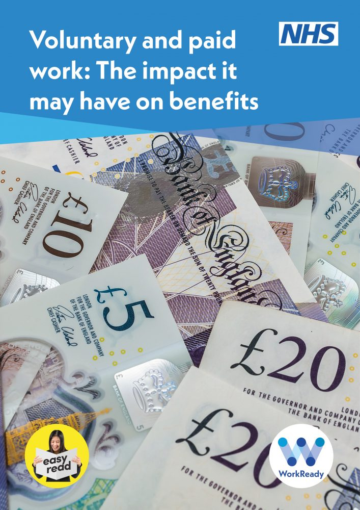 Image of the front cover to voluntary and paid work: the impact it may have on benefits