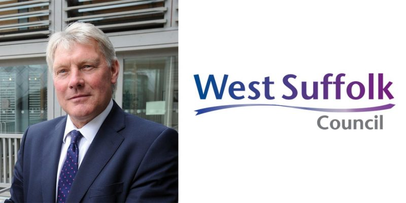 image of john griffiths and the west suffolk council logo