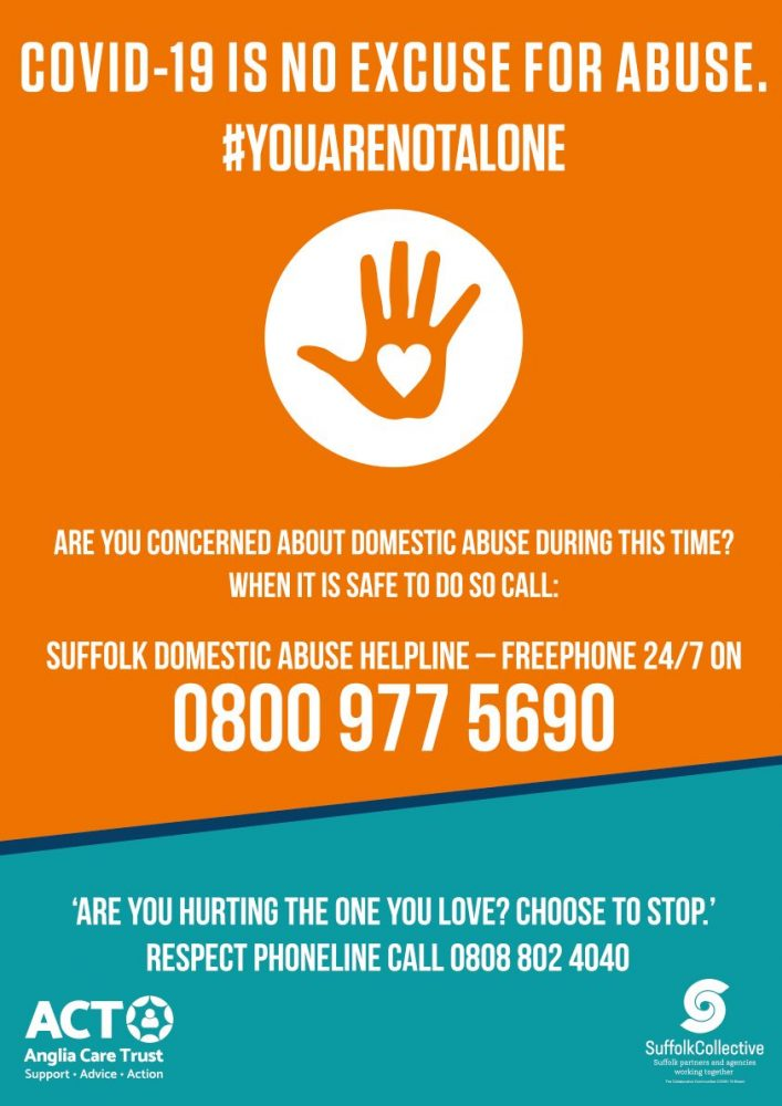 Suffolk DA Helpline Poster