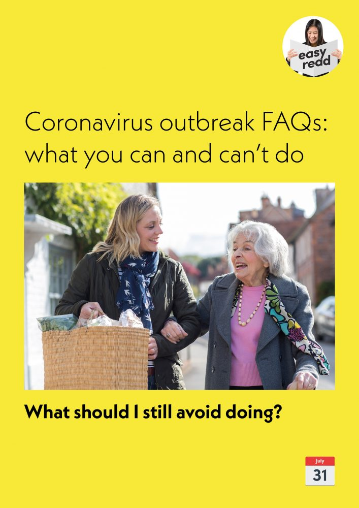 COVID19 FAQs - What should I still avoid doing spreads