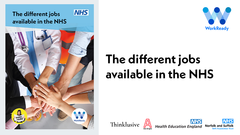 The different jobs available in the NHS cover image