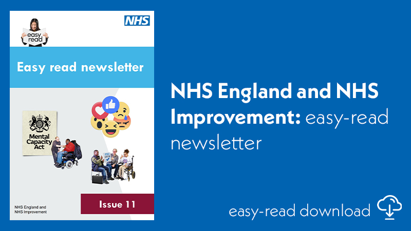 NHS EI easy-read newsletter