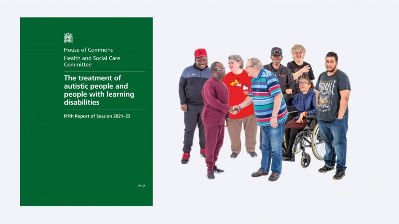 front cover of the house of commons report and a group of people
