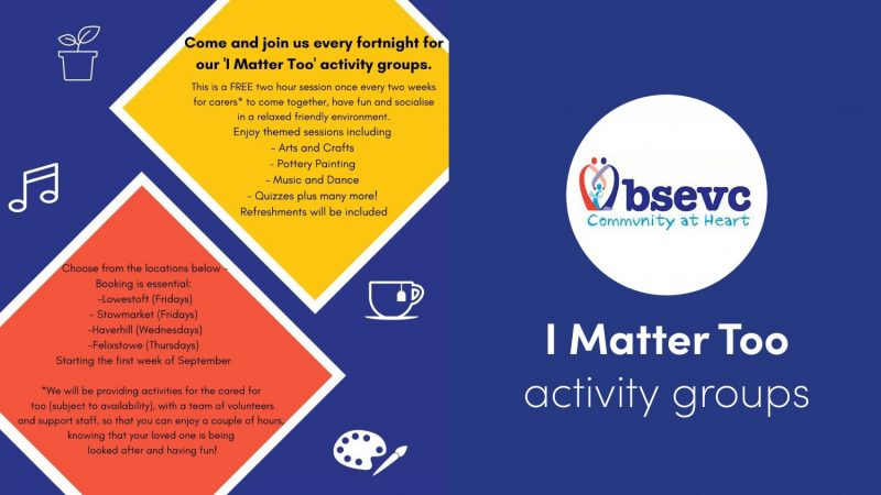 details of the kind of things you can do at the i matter too activity groups
